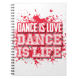 Dance Love Writing Journal in Candy Apple Red -