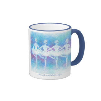 Dance magnetic cup of swan of four feathers ringer coffee mug