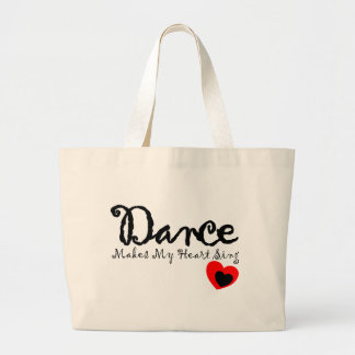 Dance Makes My Heart Sing Jumbo Tote Bag