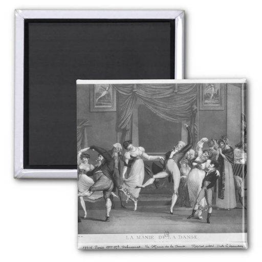 Dance mania, 1809 2 inch square magnet