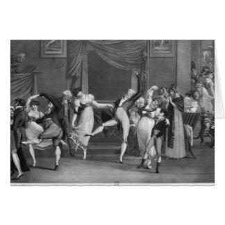 Dance mania, 1809 greeting card