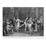 Dance mania, 1809 postcard