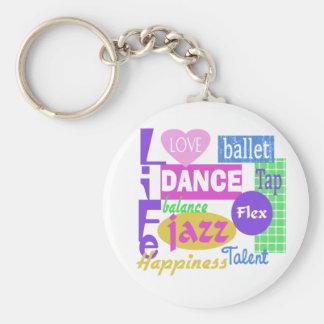 Dance Mix Basic Round Button Keychain