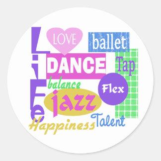 Dance Mix Classic Round Sticker