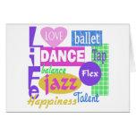 Dance Mix Greeting Card