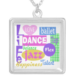 Dance Mix Silver Plated Necklace