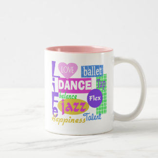 Dance Mix Two-Tone Coffee Mug