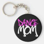 Dance Mom Basic Round Button Keychain