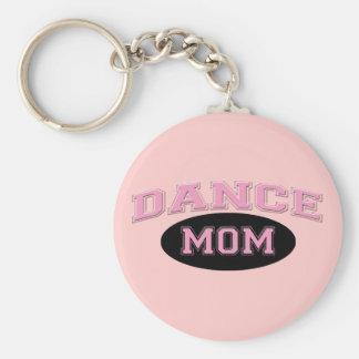Dance Mom Bold Pink Sporty Text black Basic Round Button Keychain