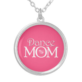 Dance Mom, Bright Pink Necklace