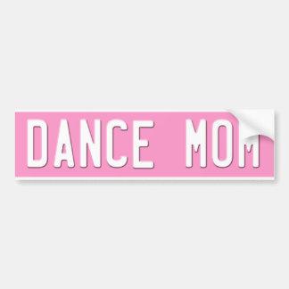 Dance Mom Bumper Sticker  License Plate Pink Car Bumper Sticker