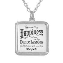 Dance Mom Dance Lessons square Silver Plated Necklace