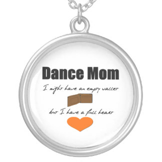 Dance Mom - Empty Hearts, Full Wallet Silver Plated Necklace