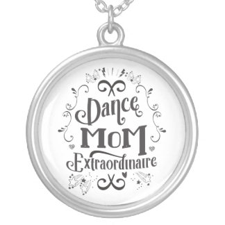 Dance Mom Extraordinaire - Black and White Silver Plated Necklace