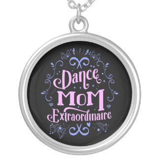 Dance Mom Extraordinaire - Pink and Purple Silver Plated Necklace