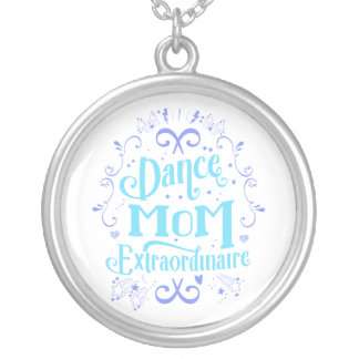 Dance Mom Extraordinaire - Purple and Blue Silver Plated Necklace