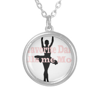 dance mom favorite2 silver plated necklace