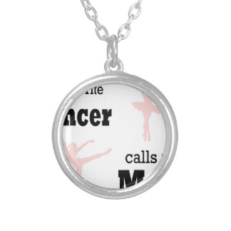 dance mom favorite silver plated necklace