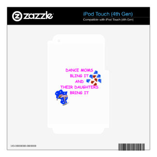 DANCE MOM iPod TOUCH 4G DECALS