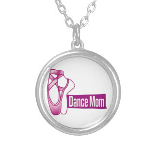 Dance Mom Silver Plated Necklace