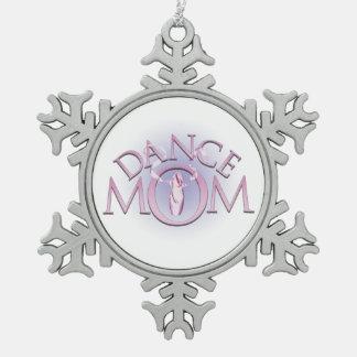 Dance Mom Snowflake Pewter Christmas Ornament