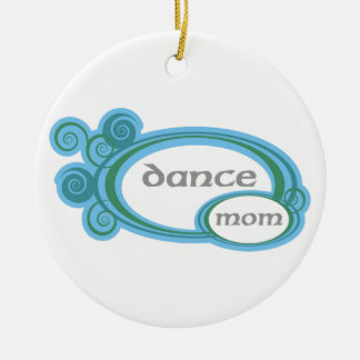 Dance Mom Swirl Ceramic Ornament