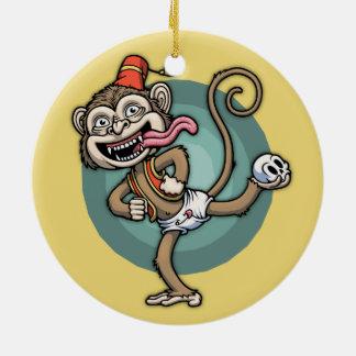 Dance, Monkey! Ceramic Ornament