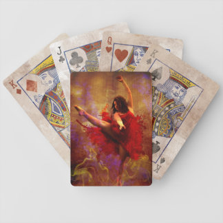 Dance More, Dancer in Red Dress Playing Cards