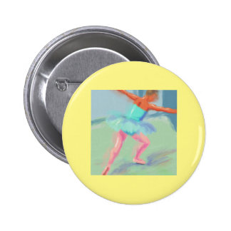 Dance Movement in Blue Pinback Buttons
