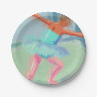 Dance Movement in Blue Paper Plate
