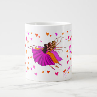 DANCE MUG. CORPS DE BALLET BALLERINAS JUMPING GIANT COFFEE MUG