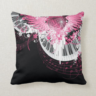 Dance Music Disco Ball Piano Couch Throw Pillow