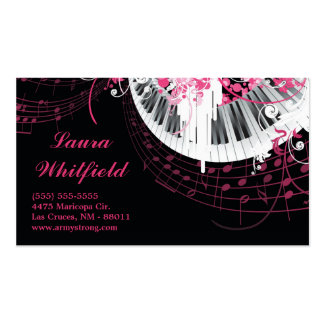 Dance Music Disco Ball Piano Music Business Card