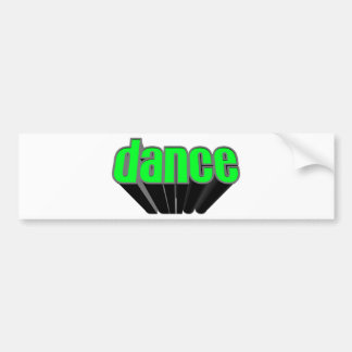 Dance Music Disco Car Bumper Sticker