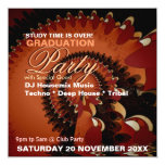 Dance Music Graduation Special Party Invitations