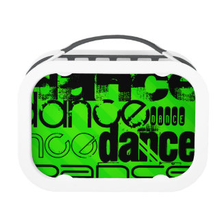 Dance; Neon Green Stripes Yubo Lunchbox
