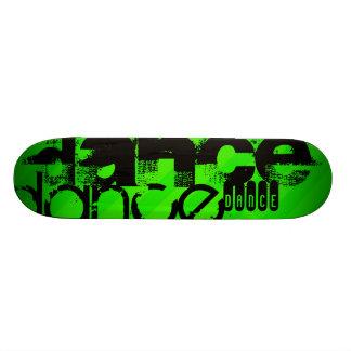 Dance; Neon Green Stripes Skateboard Decks