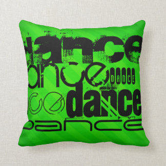 Dance; Neon Green Stripes Throw Pillow
