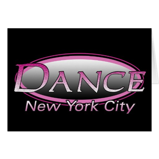 Dance New York City Logo BLANK Note Card