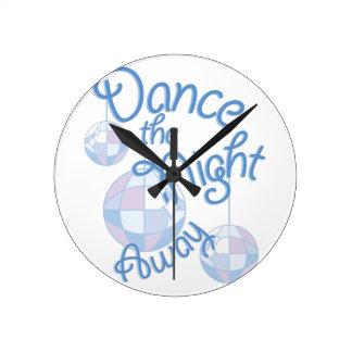 Dance Night Away Round Clock