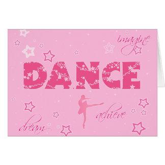 Dance Note Card Imagine Dream Achieve