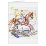 """""""Dance"""" note cards.  Horse and Rider watercolor"""