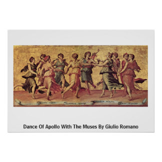 Dance Of Apollo With The Muses By Giulio Romano Posters