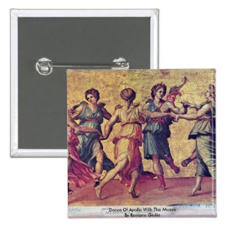 Dance Of Apollo With The Muses By Romano Giulio Button