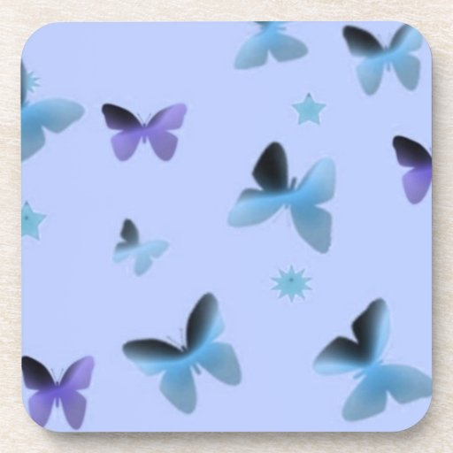 Dance of Butterflies in Blue Beverage Coaster
