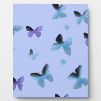 Dance of Butterflies in Blue Plaque