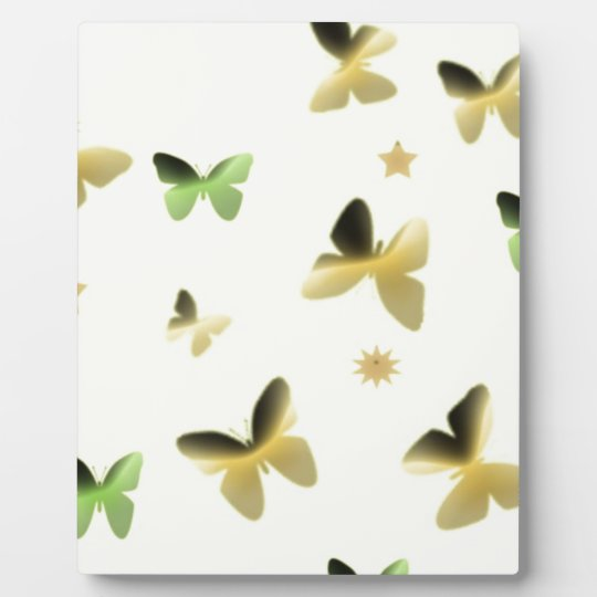 Dance of Butterflies in Golden Yellow Plaque