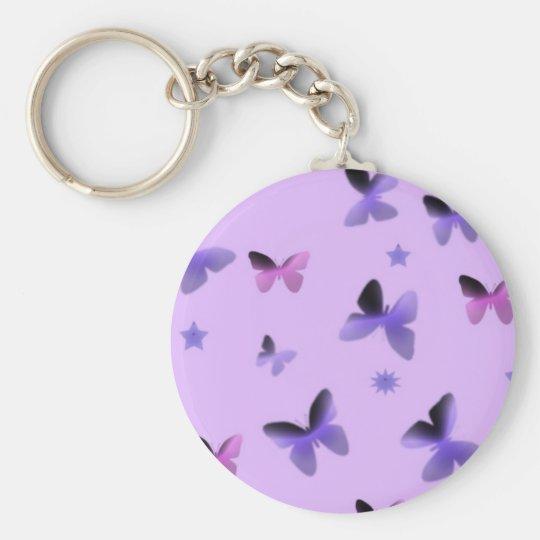 Dance of Butterflies in Lilac Purple Keychain