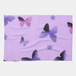 Dance of Butterflies in Lilac Purple Hand Towel