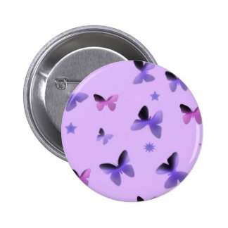 Dance of Butterflies in Lilac Purple Pinback Button